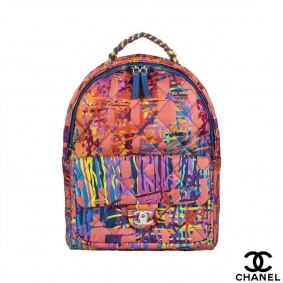 Chanel Graffiti Multicolored Summer 2018 Backpack